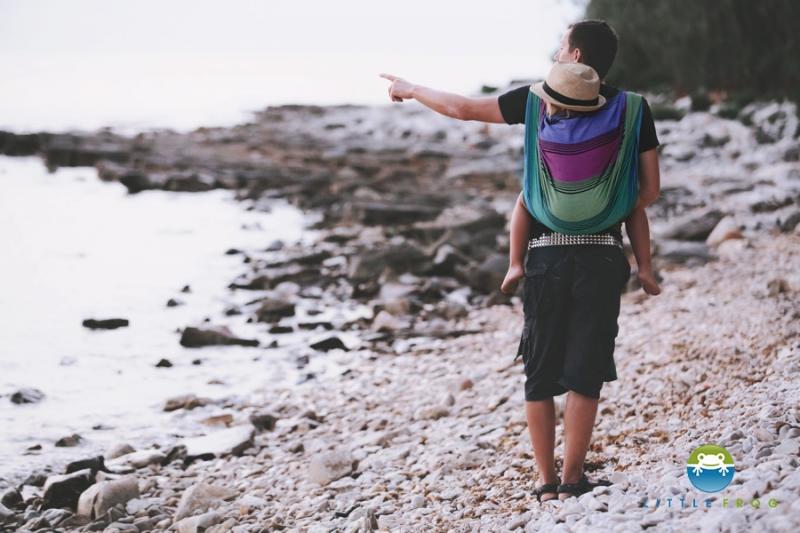 LITTLE FROG - Tkaný šátek na nošení dětí - TENORITE - XL