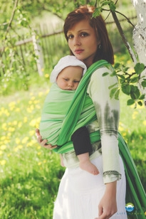 LITTLE FROG - Tkaný šátek na nošení dětí - TSAVORITE