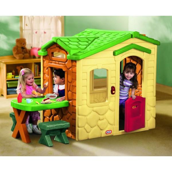 LITTLE TIKES - Domek s piknikovým stolkem natural 172298