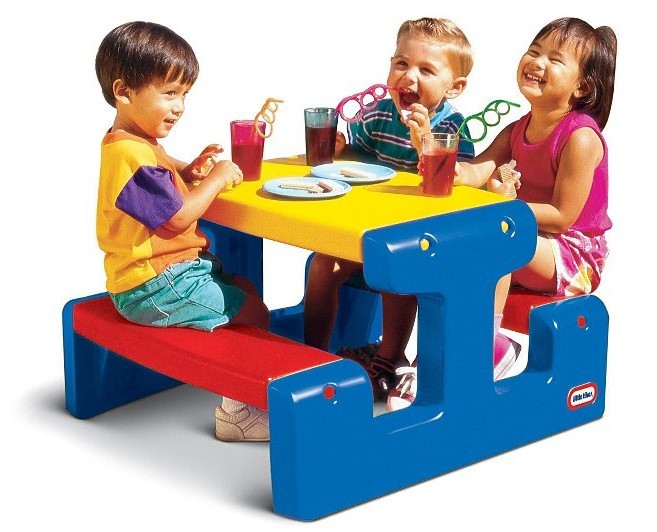 LITTLE TIKES - Piknikový stolek junior Primary 4795