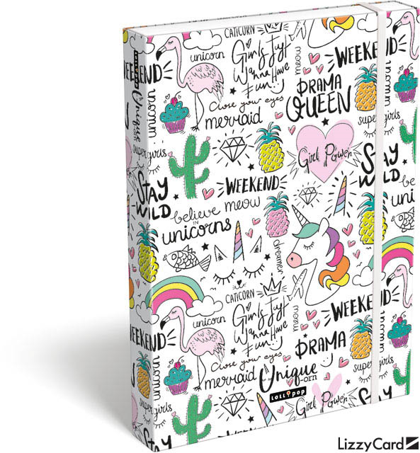 LIZZY CARD - Box na sešity A4 Lollipop Unicorn