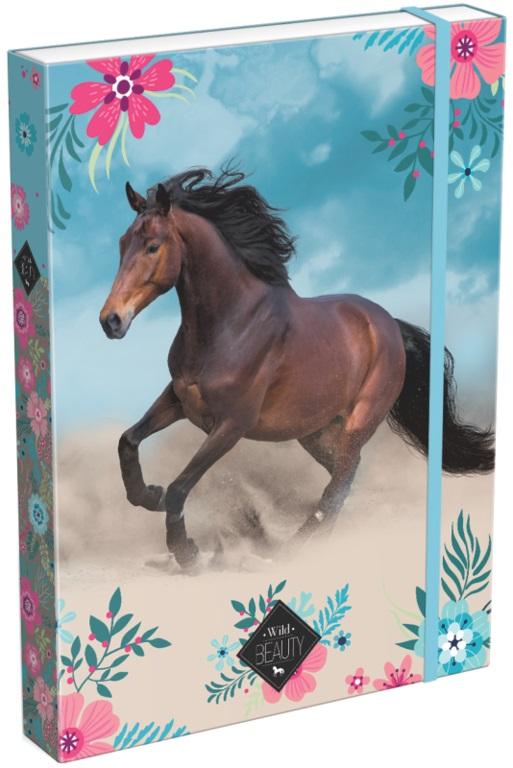 LIZZY CARD - Box na sešity A4 Wild Beauty Blue