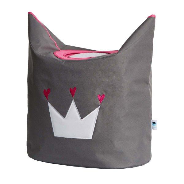 LOVE IT STORE IT - Box na prádlo - šedý, bílá koruna