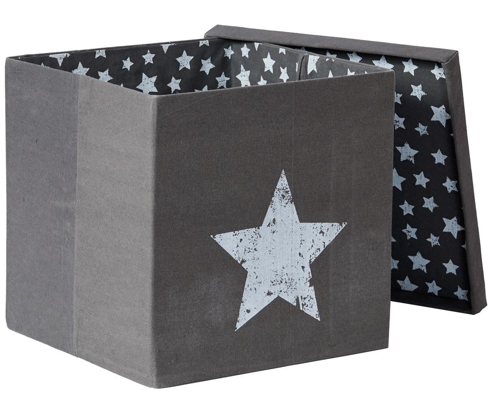 LOVE IT STORE IT - Box na hračky s krytem - šedý, Vintage Star