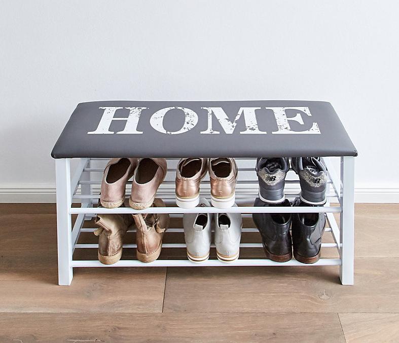"LOVE IT STORE IT - lavička s 2 poličkami na boty - Vintage ,,HOME"""
