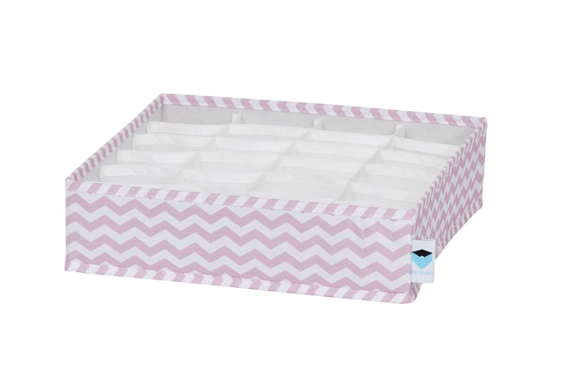 LOVE IT STORE IT - organizér na prádlo, zig-zag, růžová