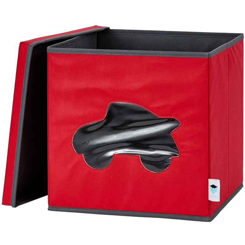 LOVE IT STORE IT - Úložný box na hračky s krytem a okénkem - auto