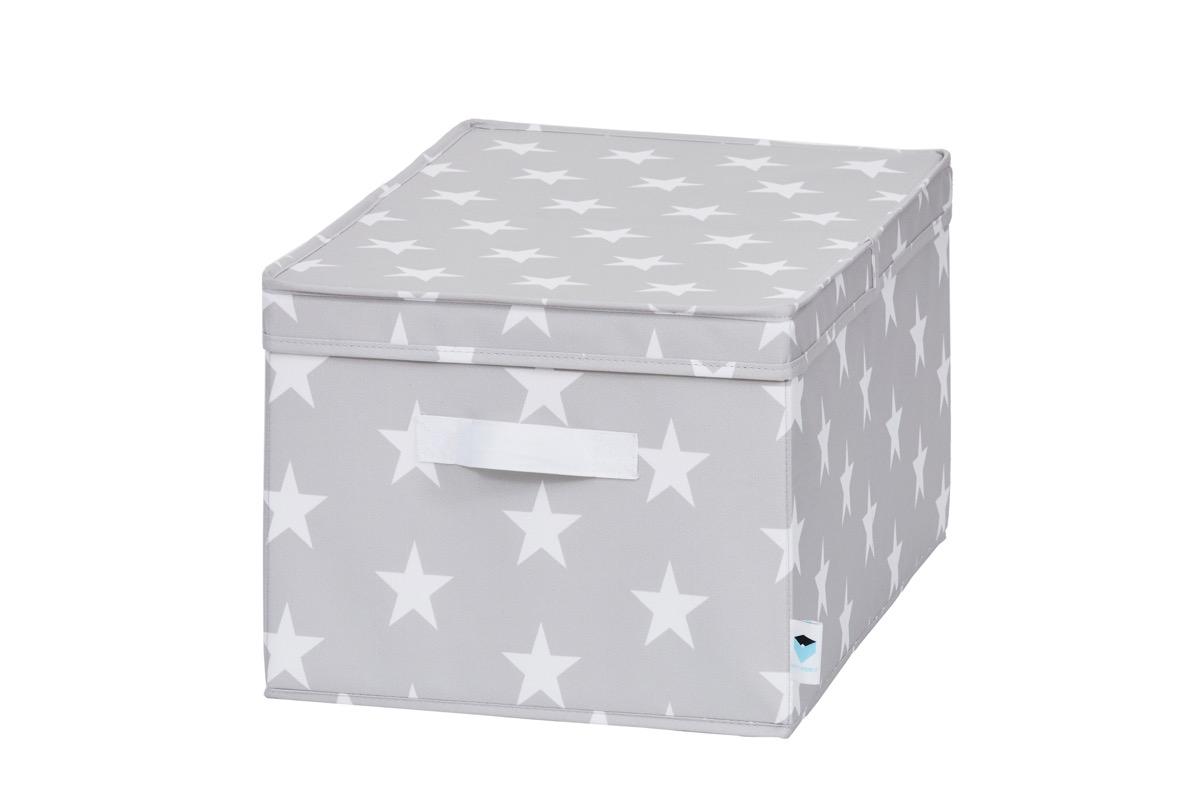 LOVE IT STORE IT - úložný box se skládacím víčkem, hvězda, šedá