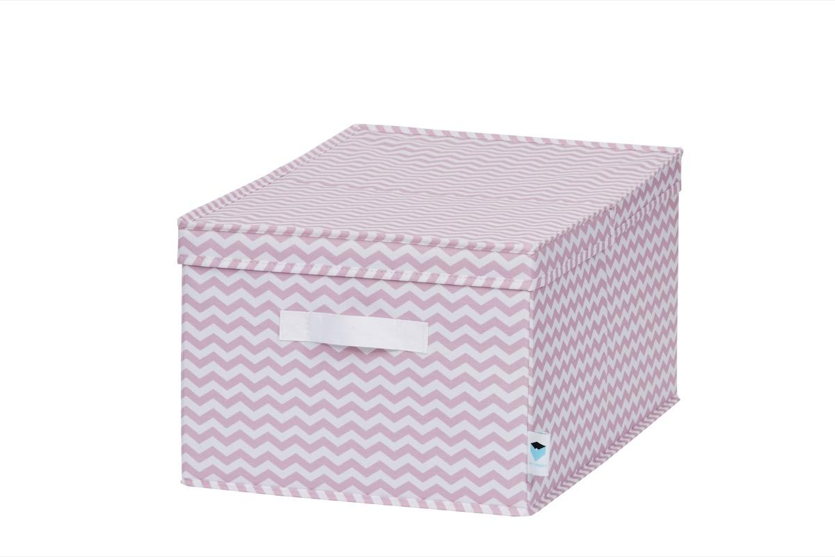 LOVE IT STORE IT - úložný box se skládacím víčkem, zig-zag, růžová