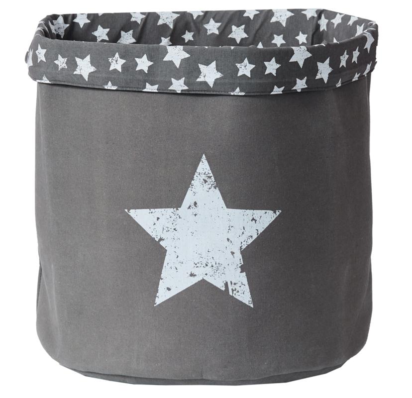 LOVE IT STORE IT - Velký úložný box na hračky, kulatý - šedý, Vintage Star