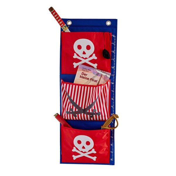 LOVE IT STORE IT - Závěsný organizér Piráti - červený s bílým pirátem