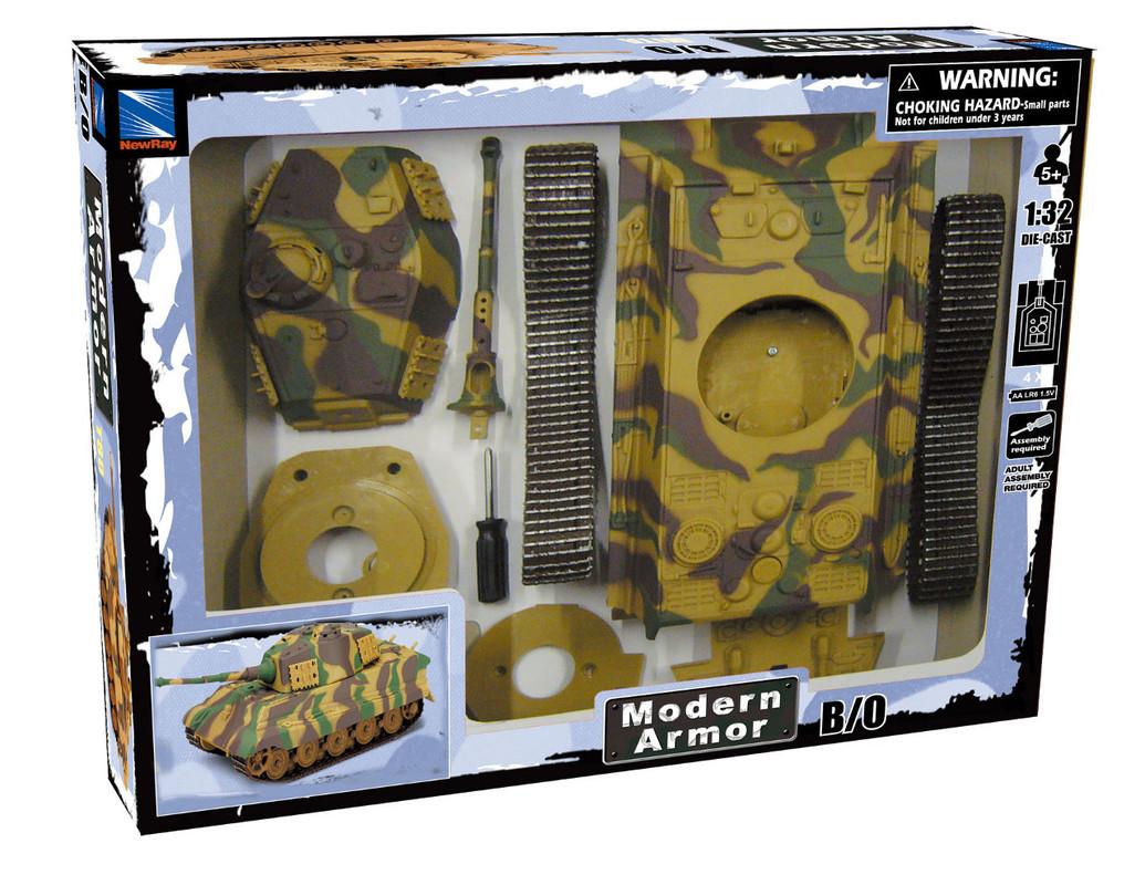 MAC TOYS - 1:32 B/O Tank T80 Model Kit