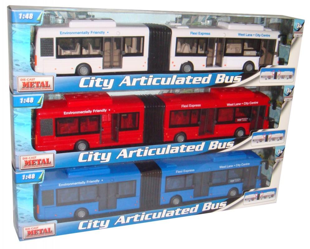 MAC TOYS - 1:48 Autobus Kloubový 3ass