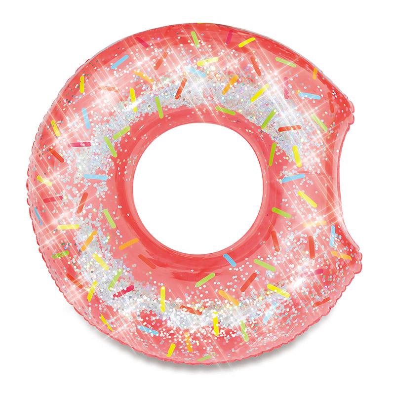 MAC TOYS - Nafukovací kruh donut se třpytkami