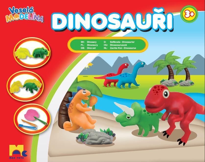 MAC TOYS - Modelína dinosauři