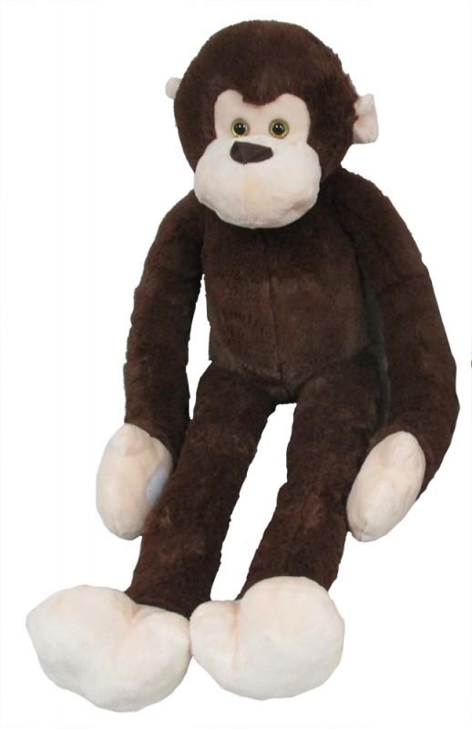 MAC TOYS - Plyšová Opice Dlouhá Ruka 100 Cm, Tmavě Hnědá