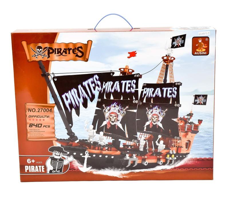 MAC TOYS - Stavebnice Pirátská Loď, 840 Dílů