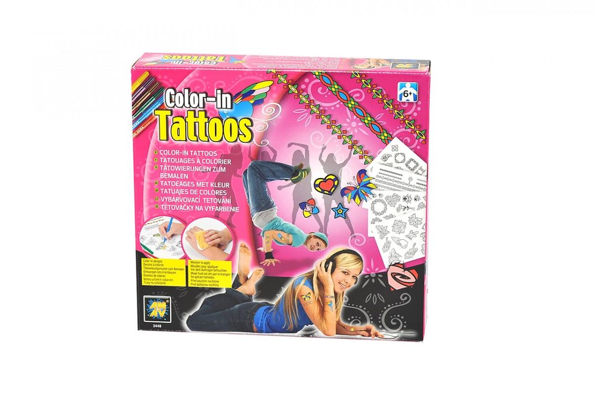 MAC TOYS - vybarvovací Tetování Pro Dívky