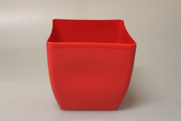 MAKRO - Květináč hranatý COUBI 19cm červený