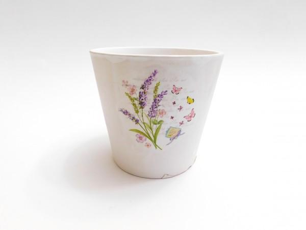 MAKRO - Květináč keramický 11cm LEVANDULE