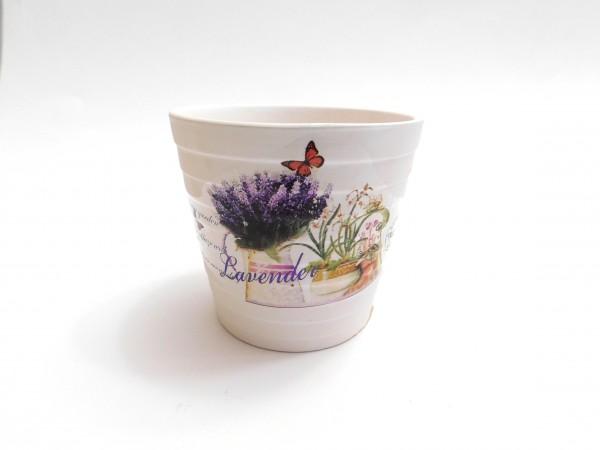 MAKRO - Květináč keramický 9cm LEVANDULE