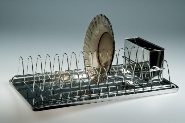 MAKRO - Nerezový odkapávač, úzký, 44 x 23 cm