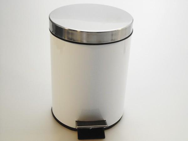MAKRO - Nerezový odpadkový koš so šlapadlom 20l - bílý
