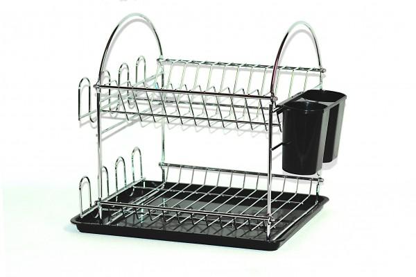 MAKRO - Odkapávač na nádobí 2 patra s podnosem