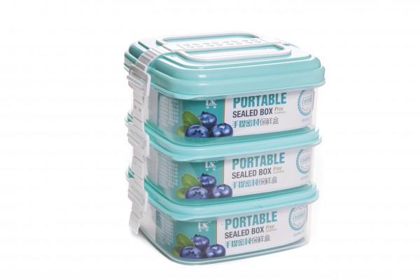 MAKRO - Plastový jídlonosič 3-dílný