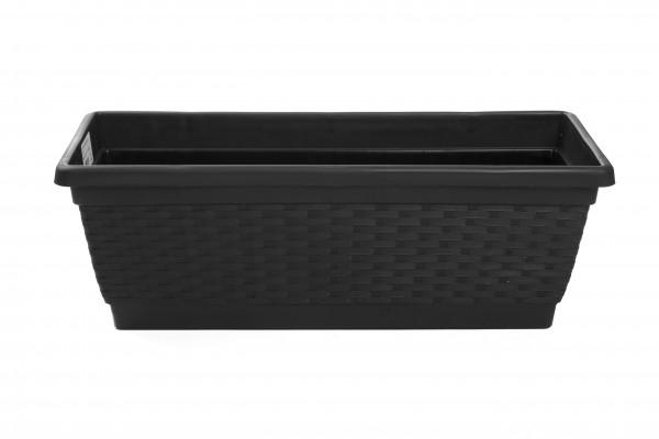 MAKRO - Plastový truhlík 50 cm - hnědý