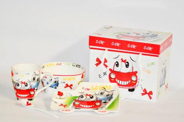 MAKRO - Sada dětská porcelán 3-dílná