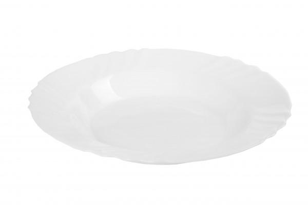MAKRO - Skleněný, hluboký talíř 24 cm