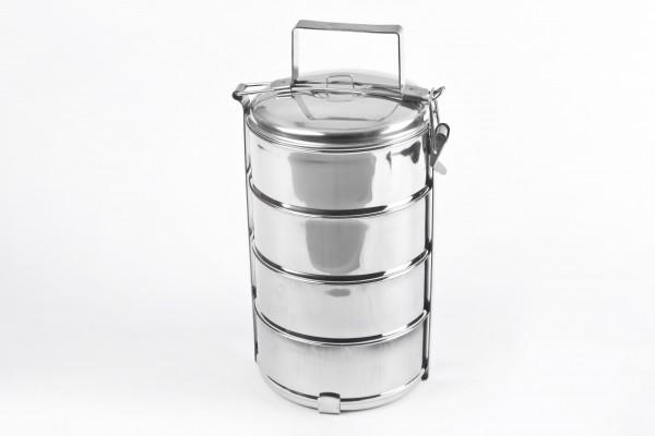 MAKRO - Čtyřdílný nerezový jídlonosič 4 x 1l