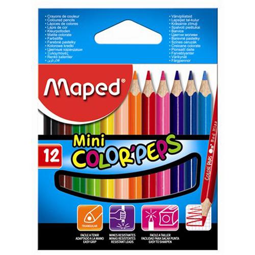 "MAPED - Pastelky trojhranné ""COLOR`PEPS MINI"", 12 ks"