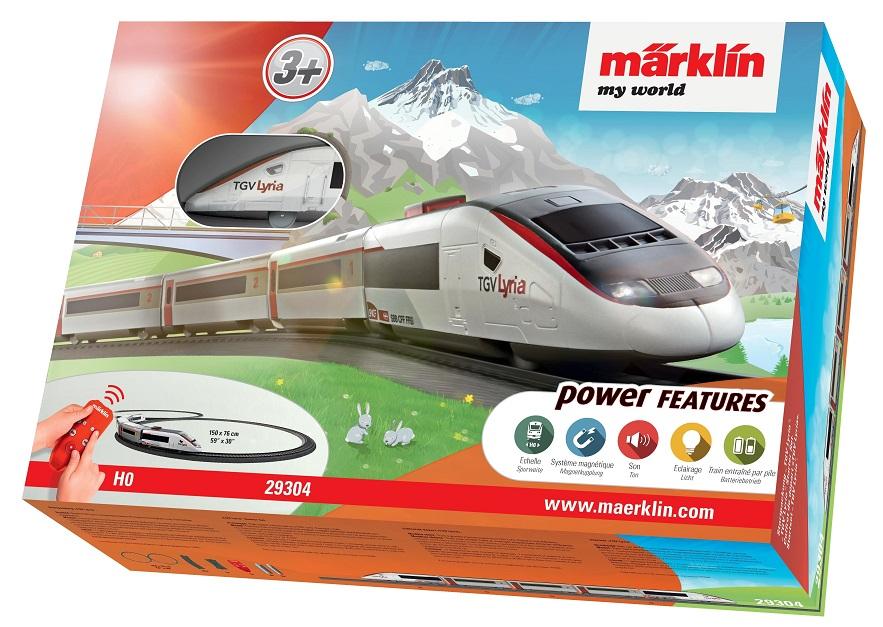Märklin - MW IRC Vlak TGV Lyria s kolejnicemi 29304