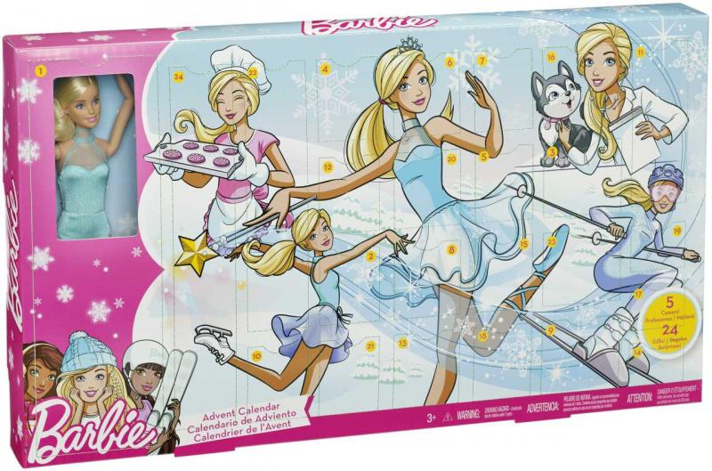 MATTEL - Panenka Barbie adventní kalendář 2017