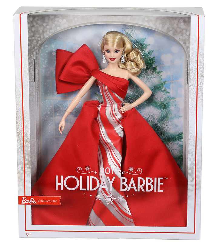 MATTEL - Barbie Vánočná Panenka Blondýnka