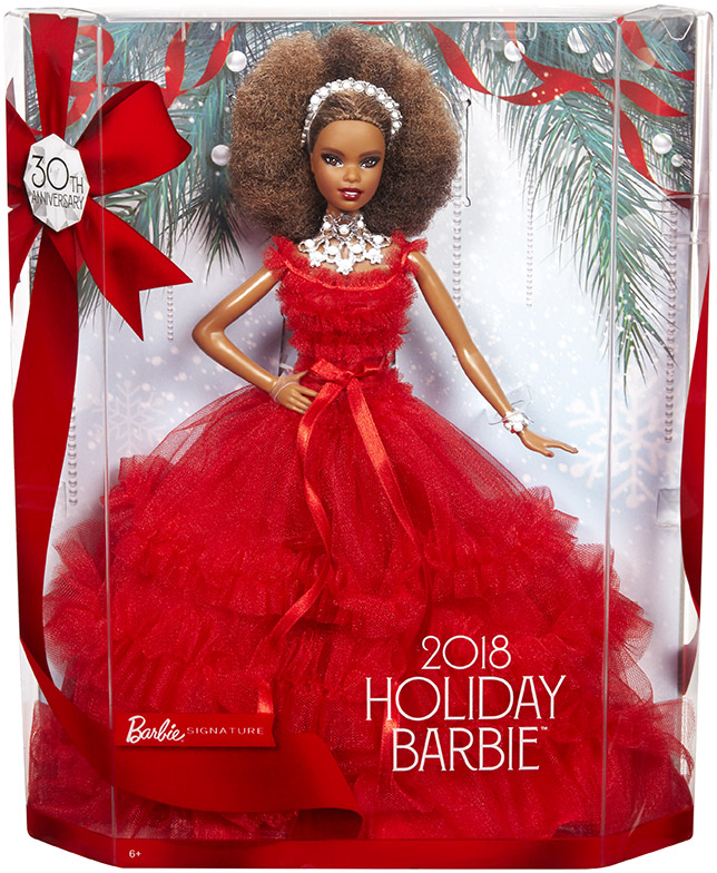 MATTEL - Barbie Holiday Doll Afro Účes