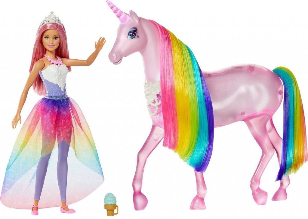 MATTEL - Barbie kouzelný jednorožec a panenka Mattel