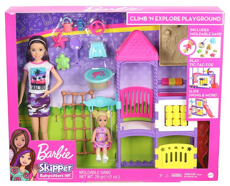 MATTEL - Barbie Chůva Na Hřišti Herní Set