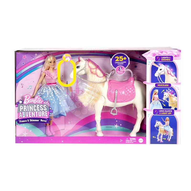MATTEL - Barbie Princess Adventure Princezna A Kůň Se Světly A Zvuky