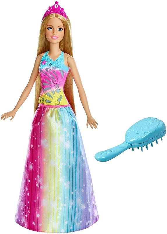 MATTEL - Barbie Princezna s magickými vlasy blond FRB12