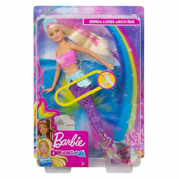 MATTEL - Barbie Svítící Mořská Panna S Pohyblivým Ocasem Běloška