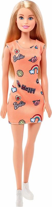MATTEL - Barbie v oranžových šatech