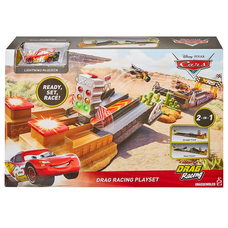 MATTEL - Cars Xrs Závod Dragsterů Herní Set
