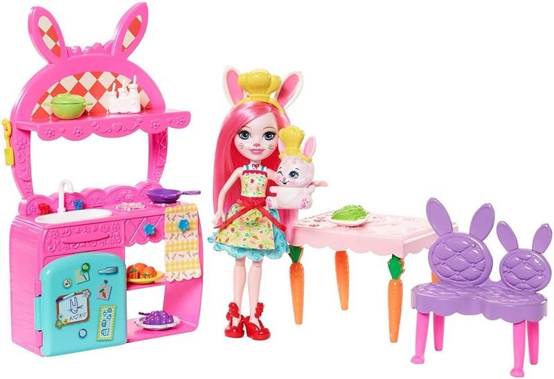 MATTEL - Enchantimals Domácí pohoda - Kuchyň Bree Bunny FRH44