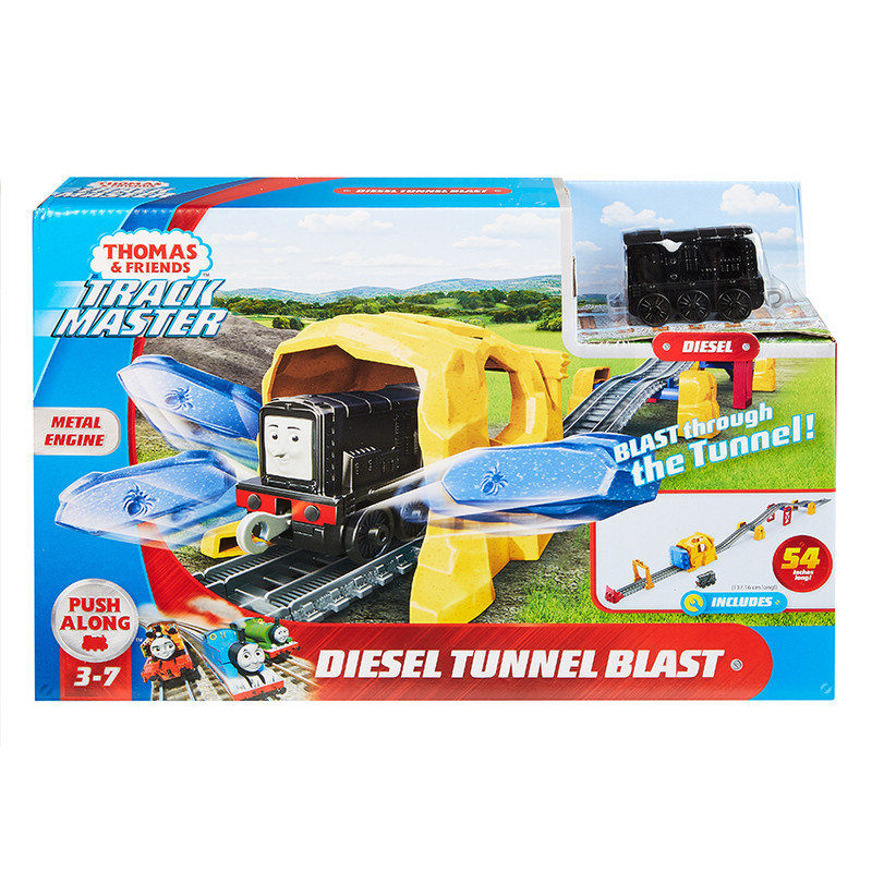 MATTEL - Fisher Price Diesel A Výbuch Tunelu Herní Set