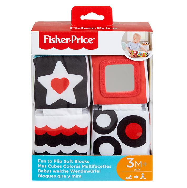 MATTEL - Fisher Price Naučné Měkké Kostky