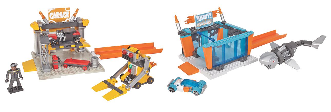 MATTEL - Mega Bloks Hot Wheels malý hrací set, mix produktů