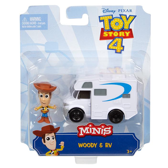 MATTEL - Toy Story 4: Příběh Hraček Minifigurka S Vozidlem - Mix